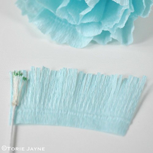 Crepe paper flower tutorial 15