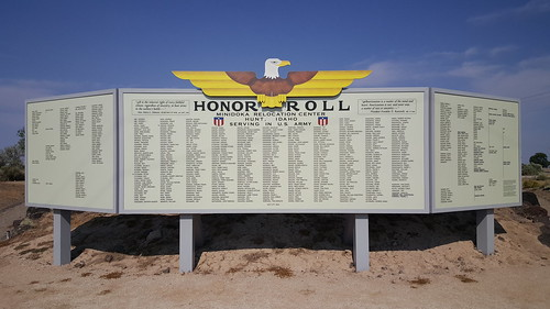 The Honor Roll of internees serving in the U.S. Military