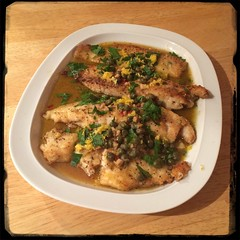 #Homemade #Tilapia #Piccata #CucinaDelloZio - top w/ lemon juice, parsley & lemon zest