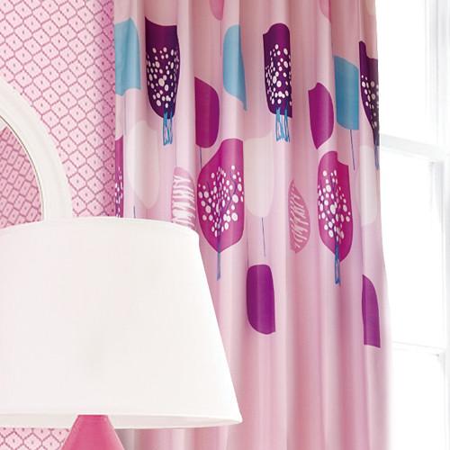 震撼價 粉紅糖果樹 甜心SWEET 半遮光無接縫窗簾布 DA1590053