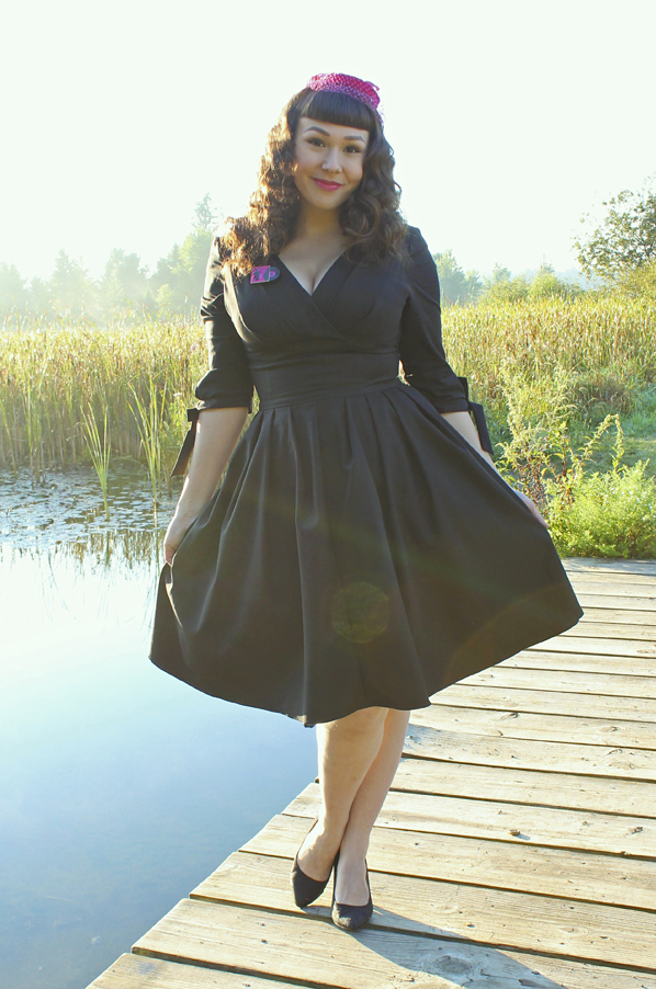 pinup black dress