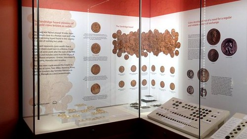 St Albans gold coin hoard display