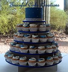 Elegant Royal Blue And Silver Cupcake Wedding Cake Flickr