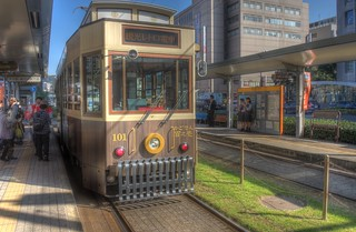 Tramcars at Kagoshima on OCT 24 (16)