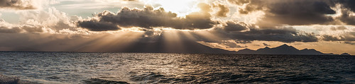 sea sun clouds sunrise turkey waves ray aegean kos greece sunray kardamena