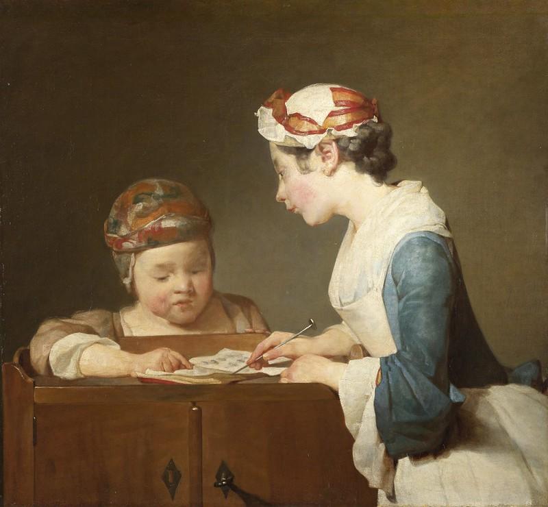 Jean-Siméon Chardin - The Young Schoolmistress