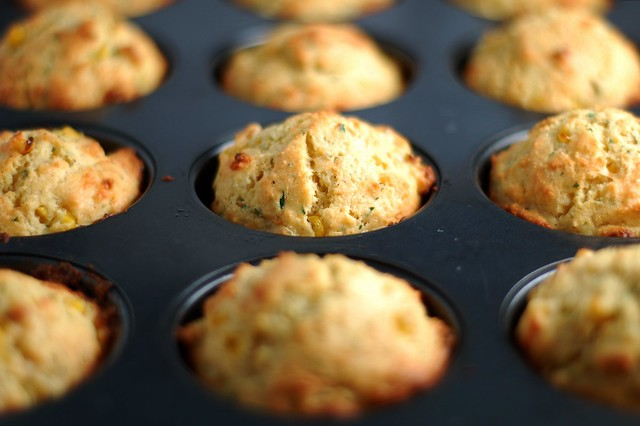 Sour cream corn muffins by Eve Fox, the Garden of Eating, copyright 2015