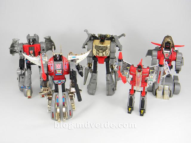 Transformers Snarl G1 - modo robot vs otros Dinobots