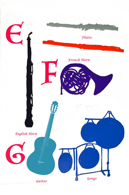 Book Of Musical Instruments, E, F, G, ca 1980 4-8 full
