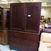 Mahogany tall 2 door three drawer linen press â¬400