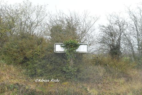 Old Irish Rail Sign In Charleville Station.