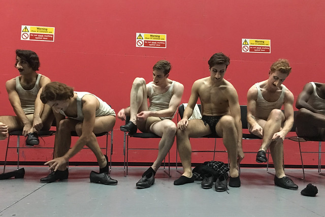Dancers of The Nose backstage, The Nose, The Royal Opera © ROH 2016. Photograph by Gareth Mole