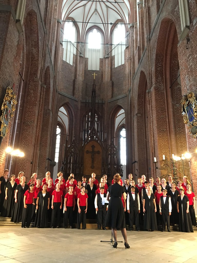 Sacramento Children's Chorus performs in St. Peter's Church in Riga, Latvia