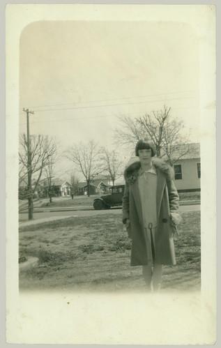 Woman in the yard