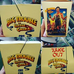 Totally awesome #80s video store point of purchase register display #chinesetakeout box for #BigTroubleInLittleChina #JackBurton #TomKhayos #ToyGameScroogeMcDuck #vintage #RagingNerdgasm #ToyGameTedDibase seen at @anime_hookup . @thetaffetadarling , I imm