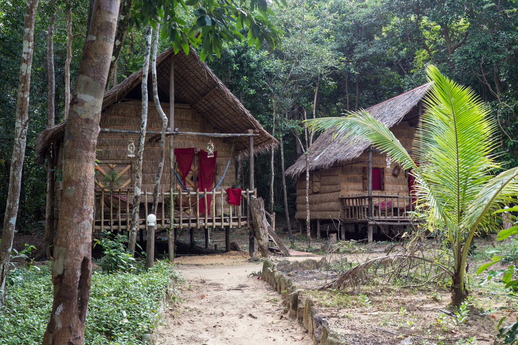 Koh Rong Island beach bungalows in Cambodia