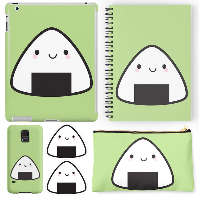 Happy onigiri rice ball at Redbubble