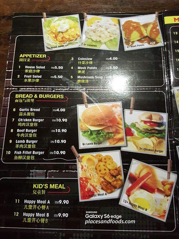 kaki corner cheras food menu