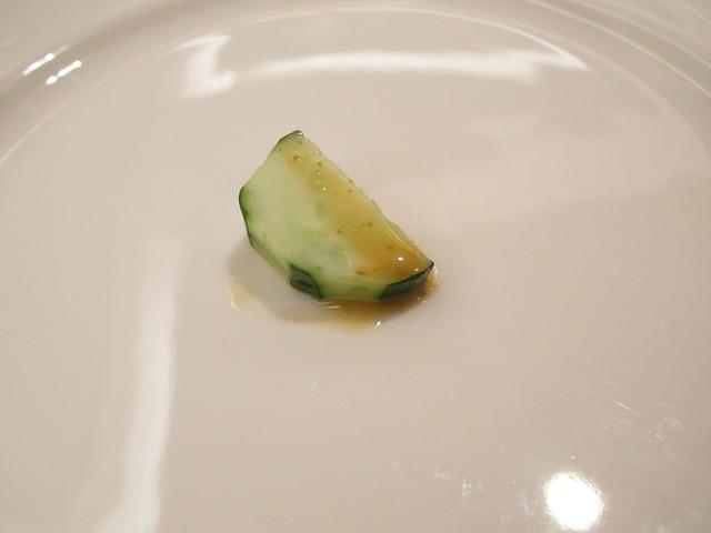 小黃瓜沾胡麻醬@棉花田有機餐廳
