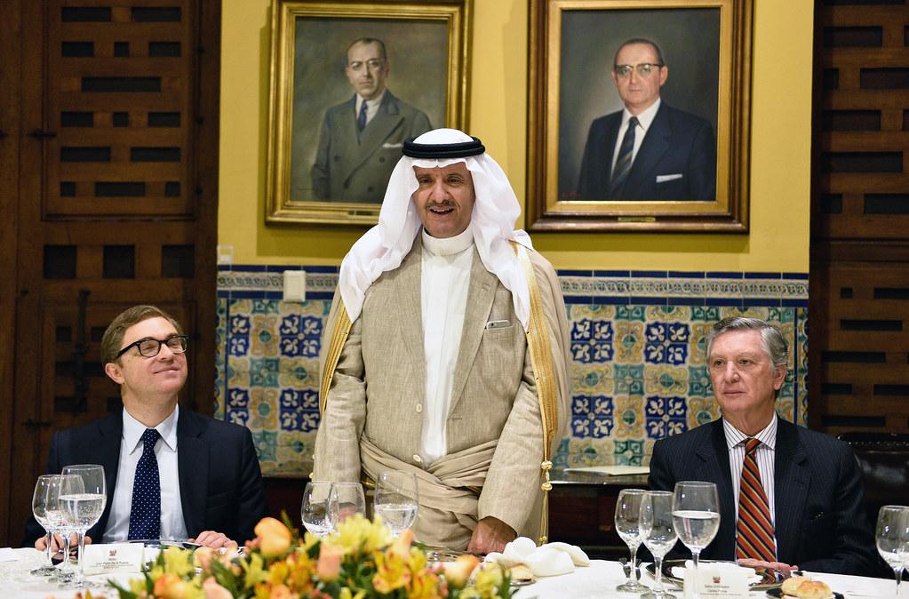 Vicecanciller se reunió con el SAR Príncipe Sultan del Reino de Arabia Saudita