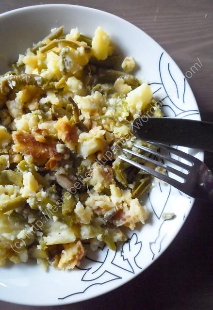 Purée Haricots et Pommes de Terre / Green Bean and Potato Mash