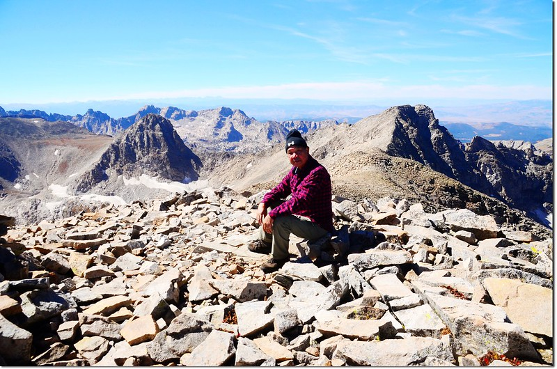 Me on the summit of Mount Audubon, background are Mount Toll & Paiute Peak