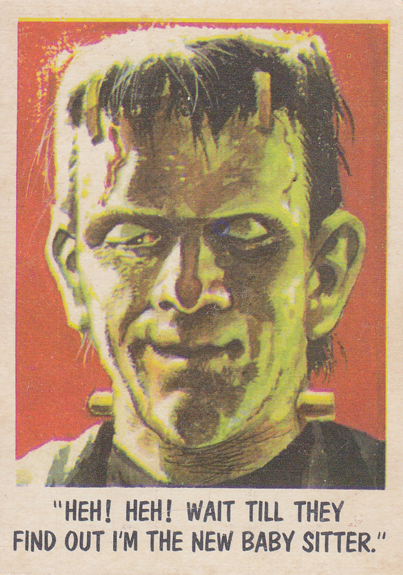 """""""You'll Die Laughing"""" Topps trading cards 1959,  illustrated by Jack Davis (65)"""