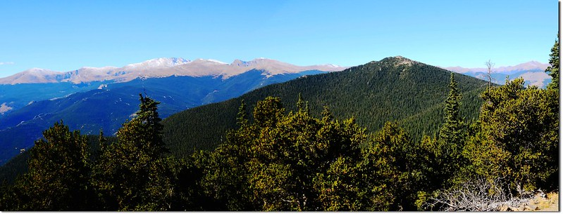 Mount Evans Area & Chief Mountain from Squaw Mountain