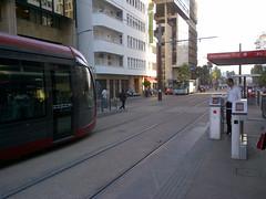 Casablanca tramway platform