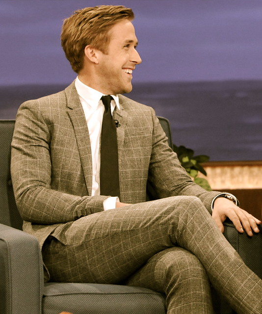 Ryan Gosling crossed legs