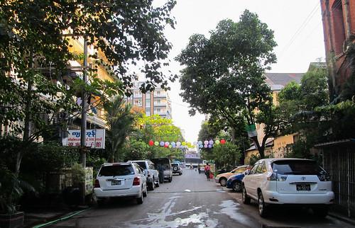 Yangon: le chouette quartier de notre auberge