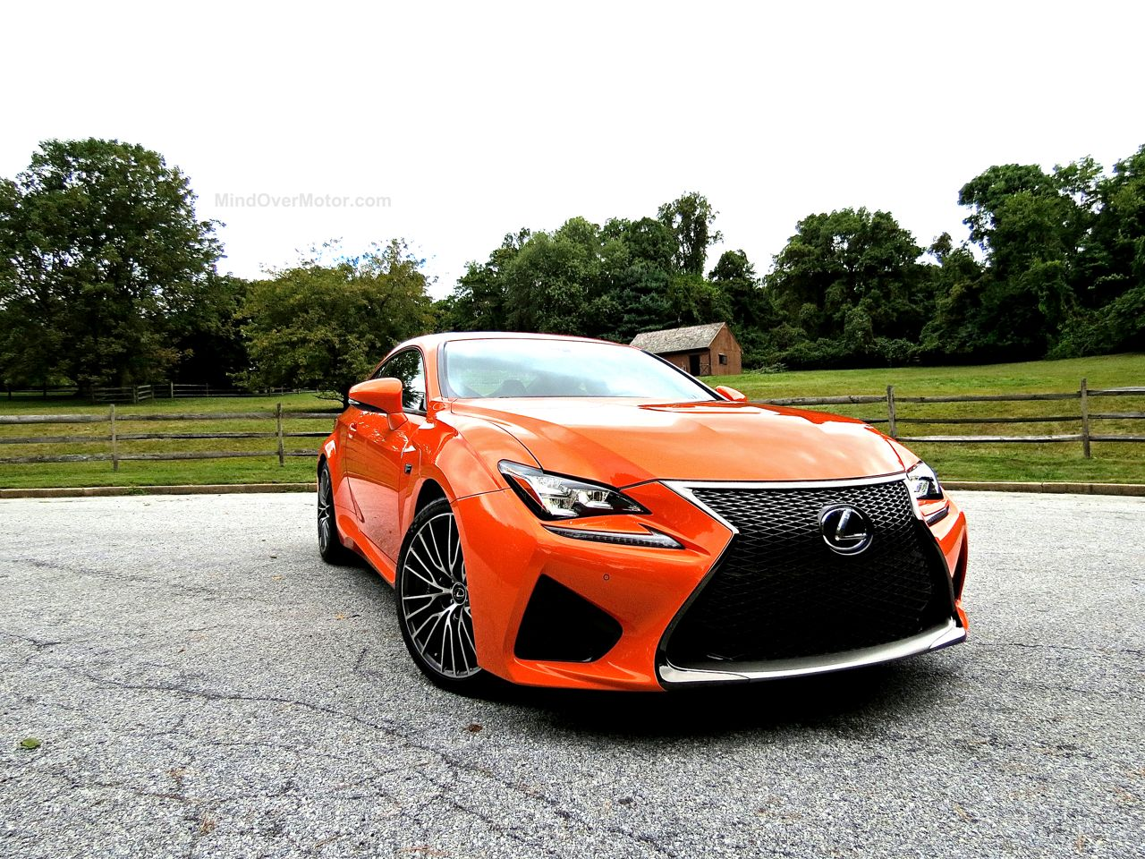 Orange Lexus RC-F Review 2