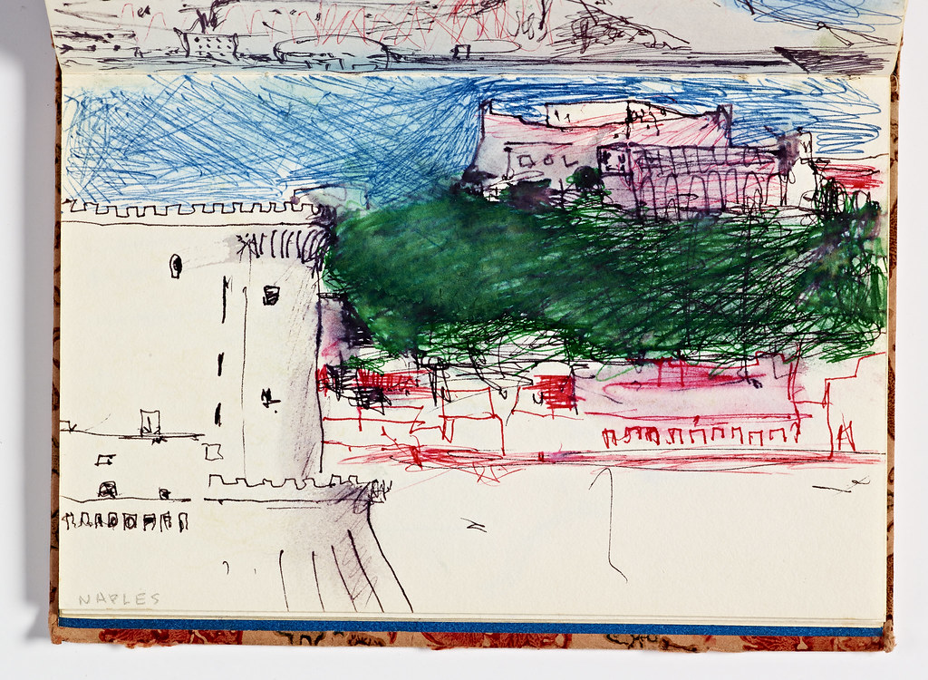 Diebenkorn sketches at the Cantor Art Center, Stanford University