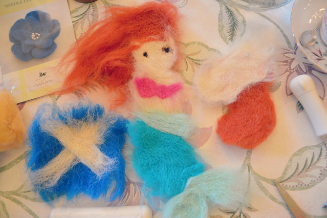 Laura Ashley needle felting