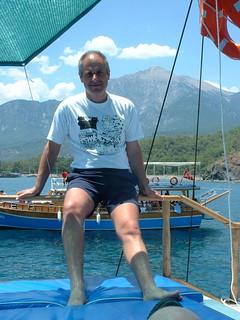 Me on boat In Turkey