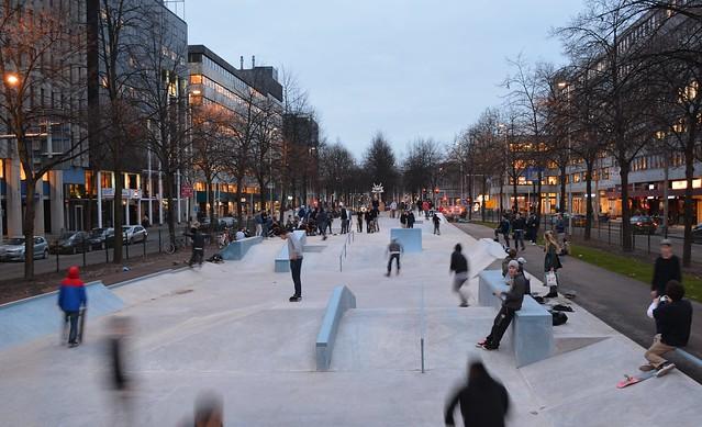 Skatepark Westblaak ingebruik 18-12-2015