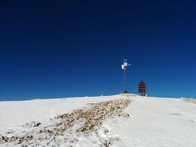 Wetterstation am Gipfel des Hochebenkofels