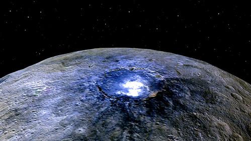 Imagen del Cráter Occator en Ceres