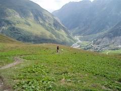 The descent from the Col de la Croix Bonhomme 2433m towards Les Chapieux 1549m Image