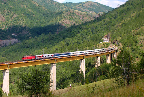 zlatibor ribnica serbia railway beogradbar bridge train ic431 nature