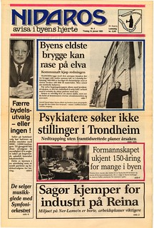 Nidaros - avisa i byens hjerte / Forside (1985)