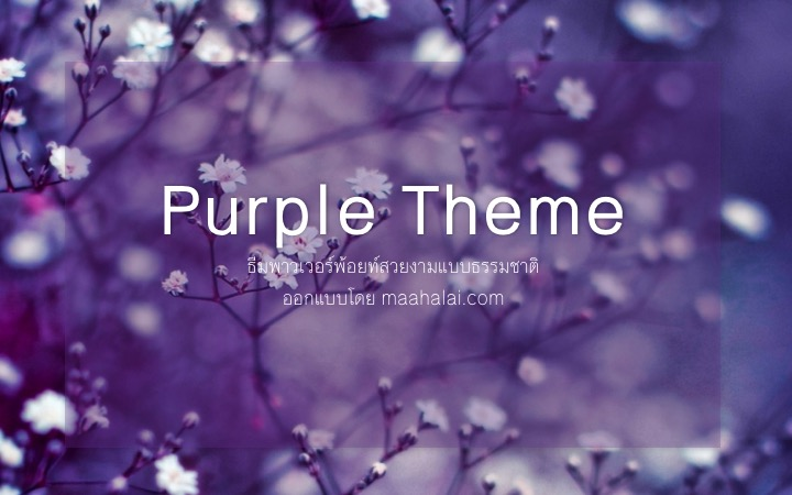PowerPoint Purple Theme