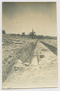 White rock Res. Trench Excavated for Concrete Dam in spillway.