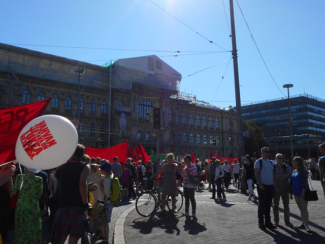 Mielenosoitus Helsingissä hallituksen leikkauspolitiikkaa vastaan 22.8.2015 - 4