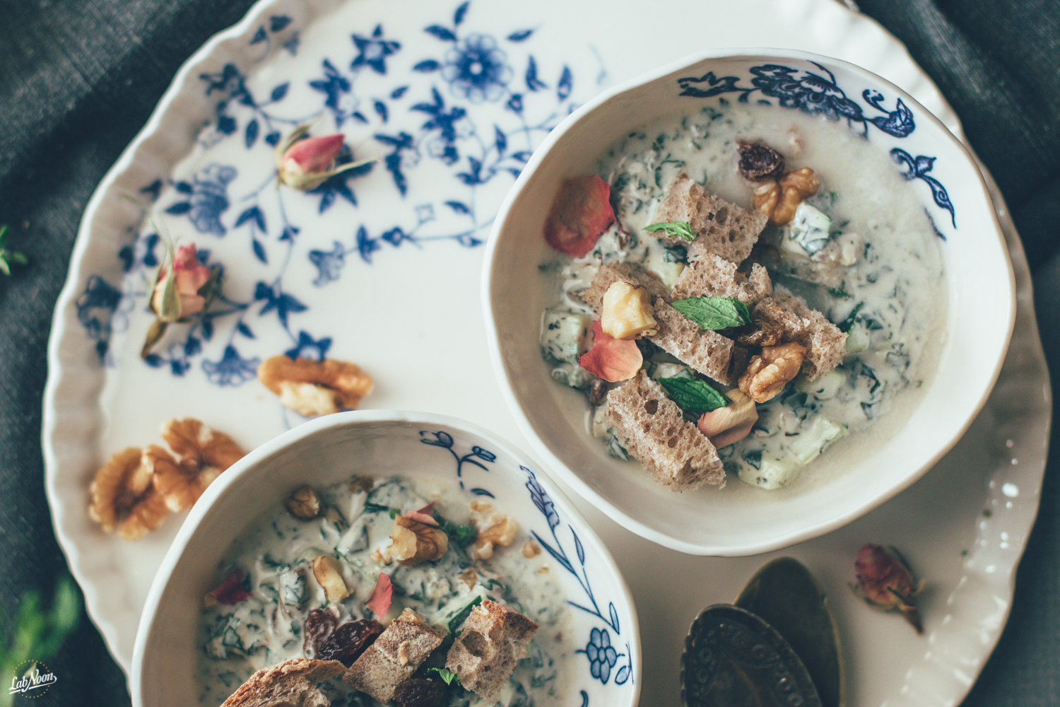 Ab Doogh Khiar | Persian Cold Soup with Yoghurt and Herbs | Zuppa Fredda di Yoghurt alla Persiana | Lab Noon-14