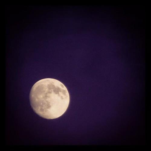 Last night's nearly full moon. #Latergram