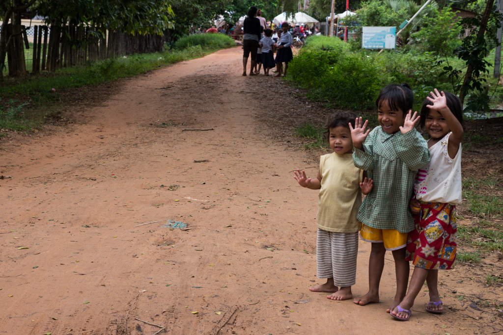 Wandering the sandy streets around Hariharalaya in Siem Reap in Cambodia-2