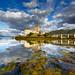Castle of Eilean Donan mirrored on the Loch by Loïc Lagarde