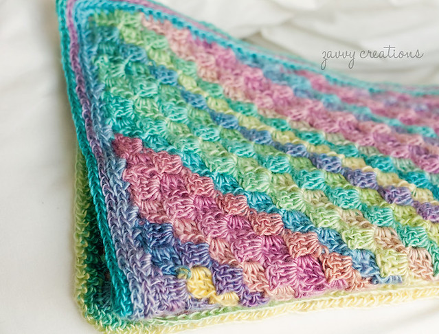 Corner to Corner Jewel Toned Blanket - Folded