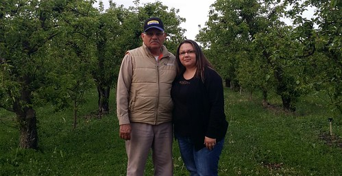 Elsa Torres with her father